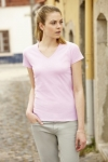 New Lady - Fit Valueweight V-Neck T  61-398-0